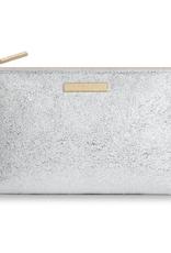 mia makeup bag metallic silver
