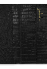 Katie Loxton celine faux croc travel wallet - black