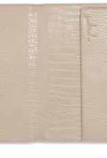 Katie Loxton celine faux croc travel wallet - oyster grey