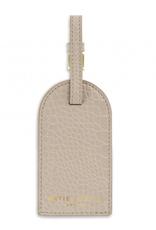 celine faux croc luggage tag - oyster grey final sale