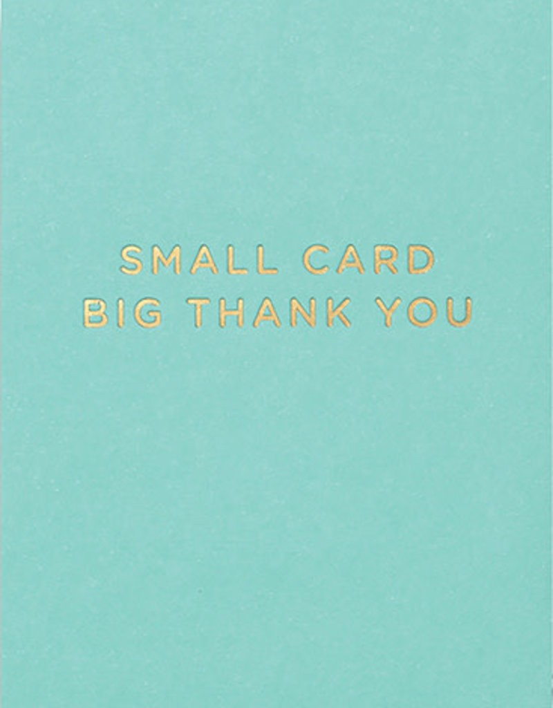 Calypso cards small card big thank you