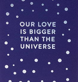 Calypso cards our love is bigger than the universe card