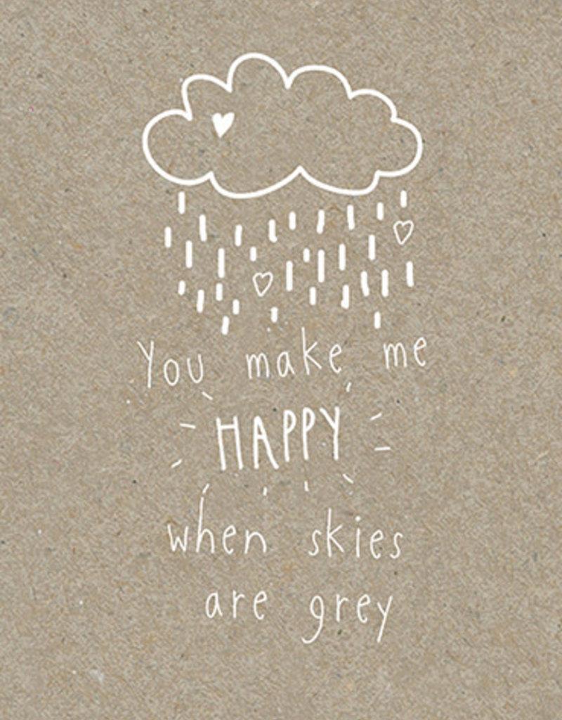 Calypso cards skies are gray card