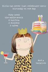Calypso cards girls birthday rules card