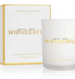 you are wonderful candle