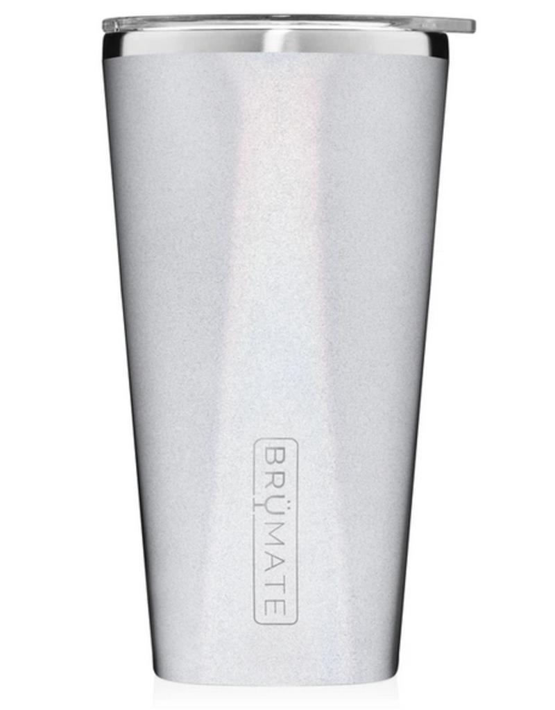 Brümate imperial pint 20oz tumbler glitter white