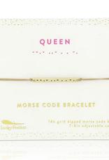 queen morse code bracelet
