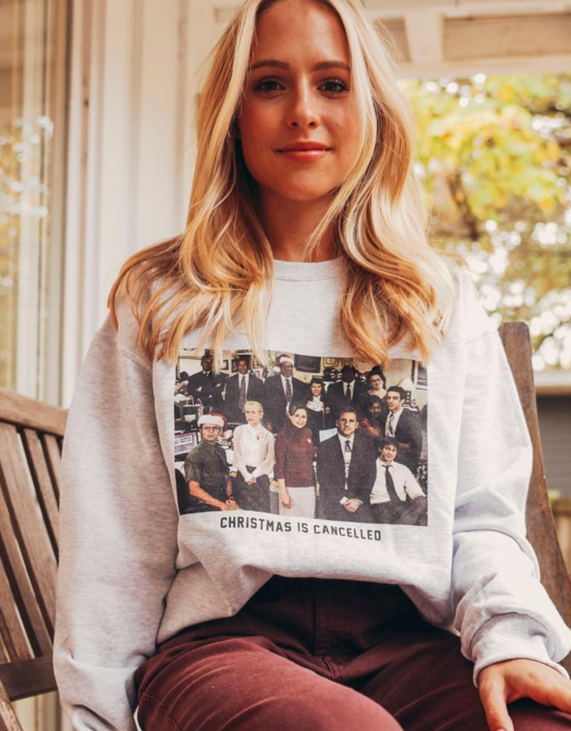 friday + saturday christmas is cancelled sweatshirt