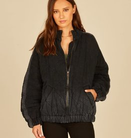 vintage havana quilted tencel jacket