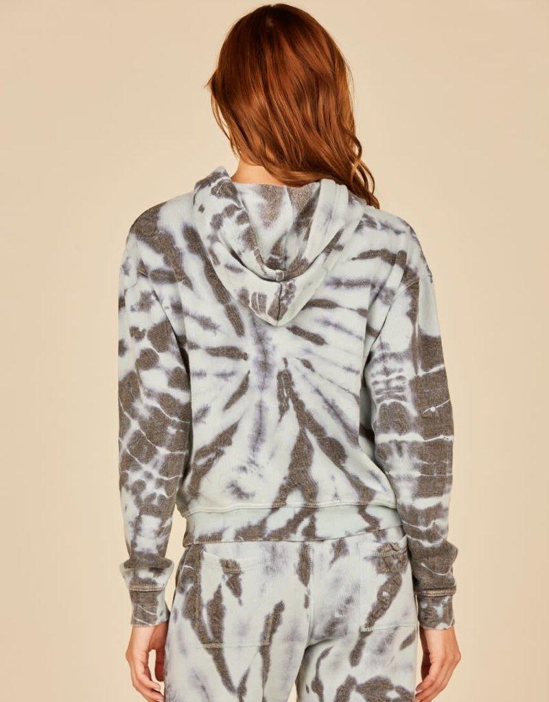 vintage havana arctic tie dye burnout hoodie