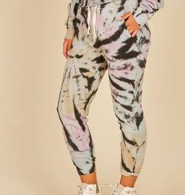 vintage havana grunge tie dye burnout fleece jogger