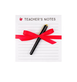 teacher notepad & pen set