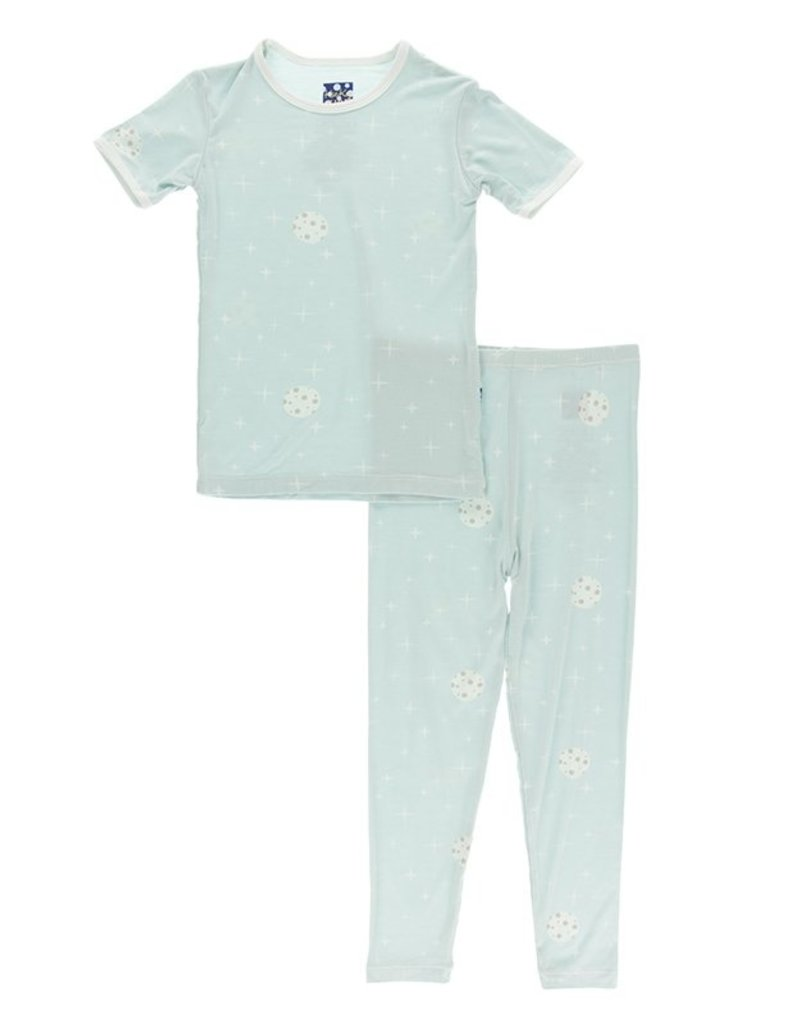 kickee pants spring sky full moon short sleeve pajama set
