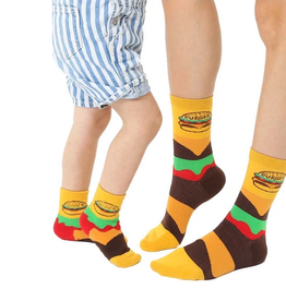 burger mini+me sock set