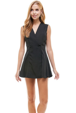 double breasted vest romper