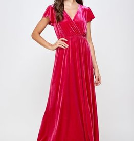See and be Seen velvet maxi dress