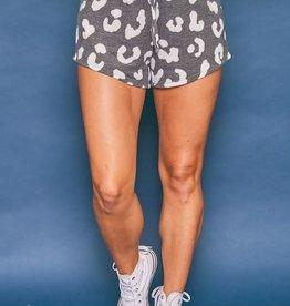 high waisted leopard mini shorts