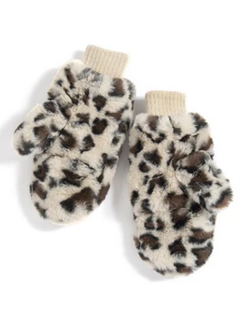 shiraleah aspen leopard mittens