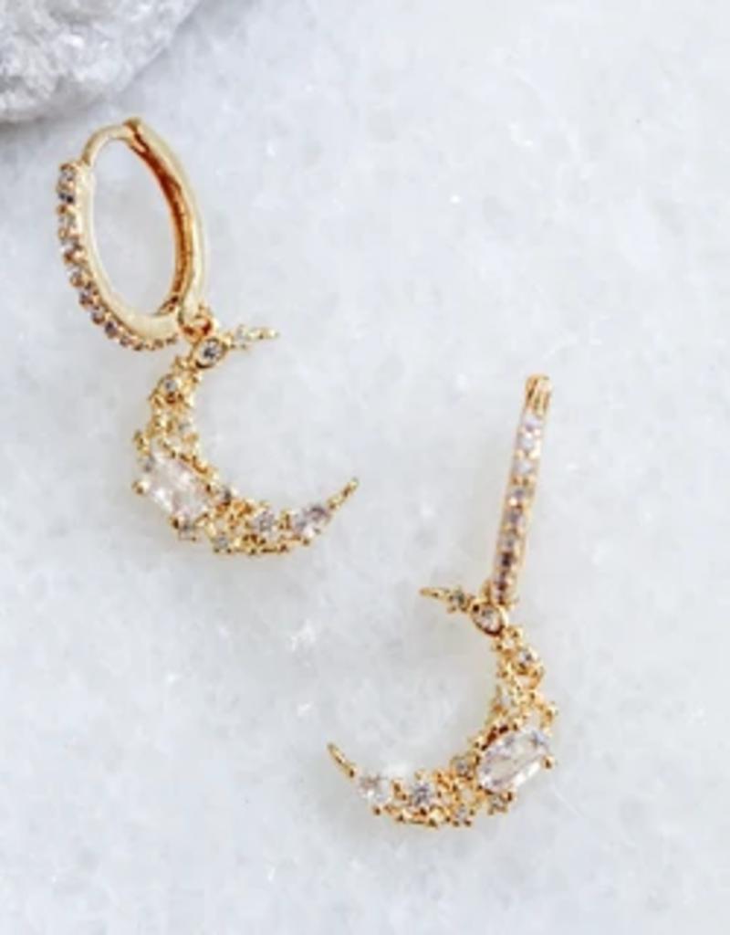 divine huggie earrings