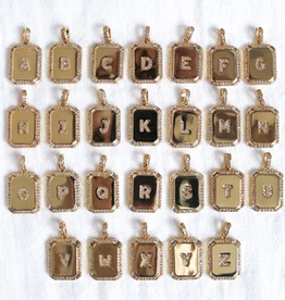initial tile necklace