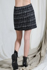 cali mini tweed skirt