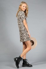 leopard corded dress