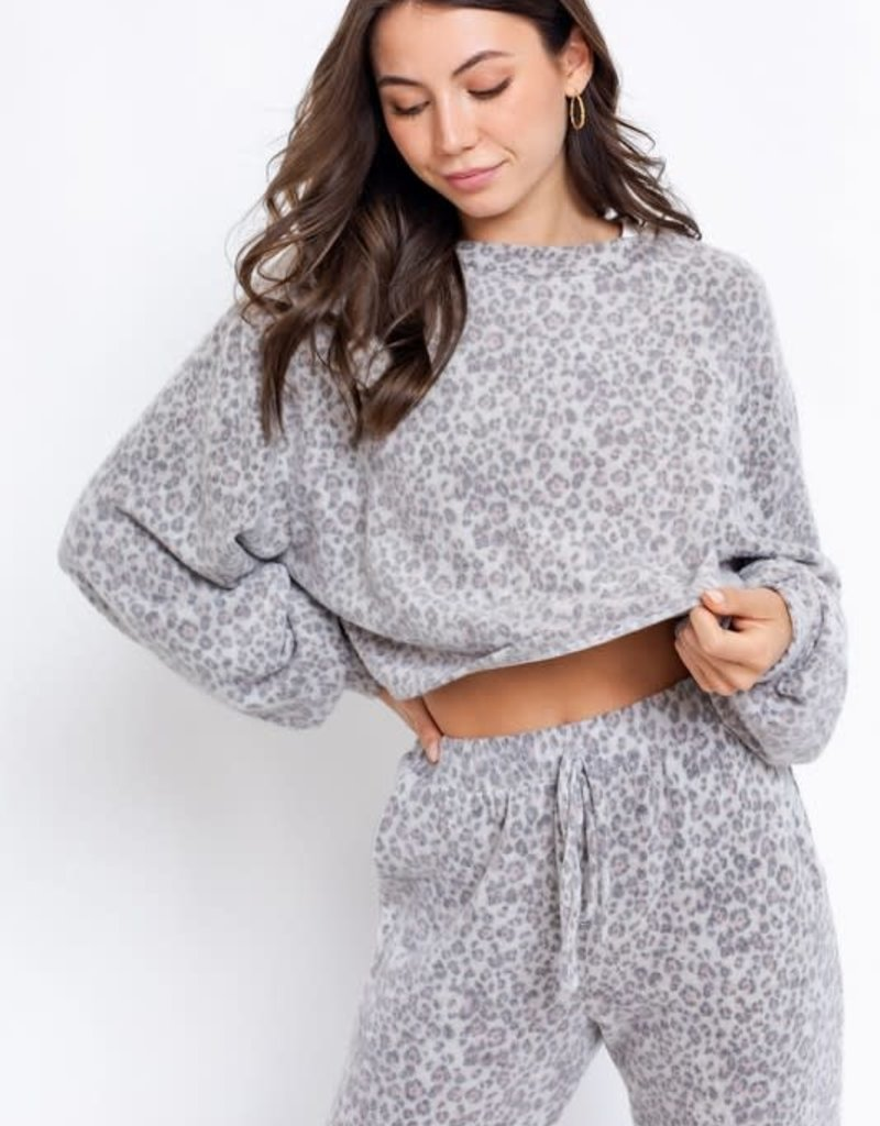 soft touch crop long sleeve top
