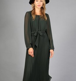 very j pleated midi dress