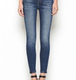 dark wash high rise skinny jeans LC