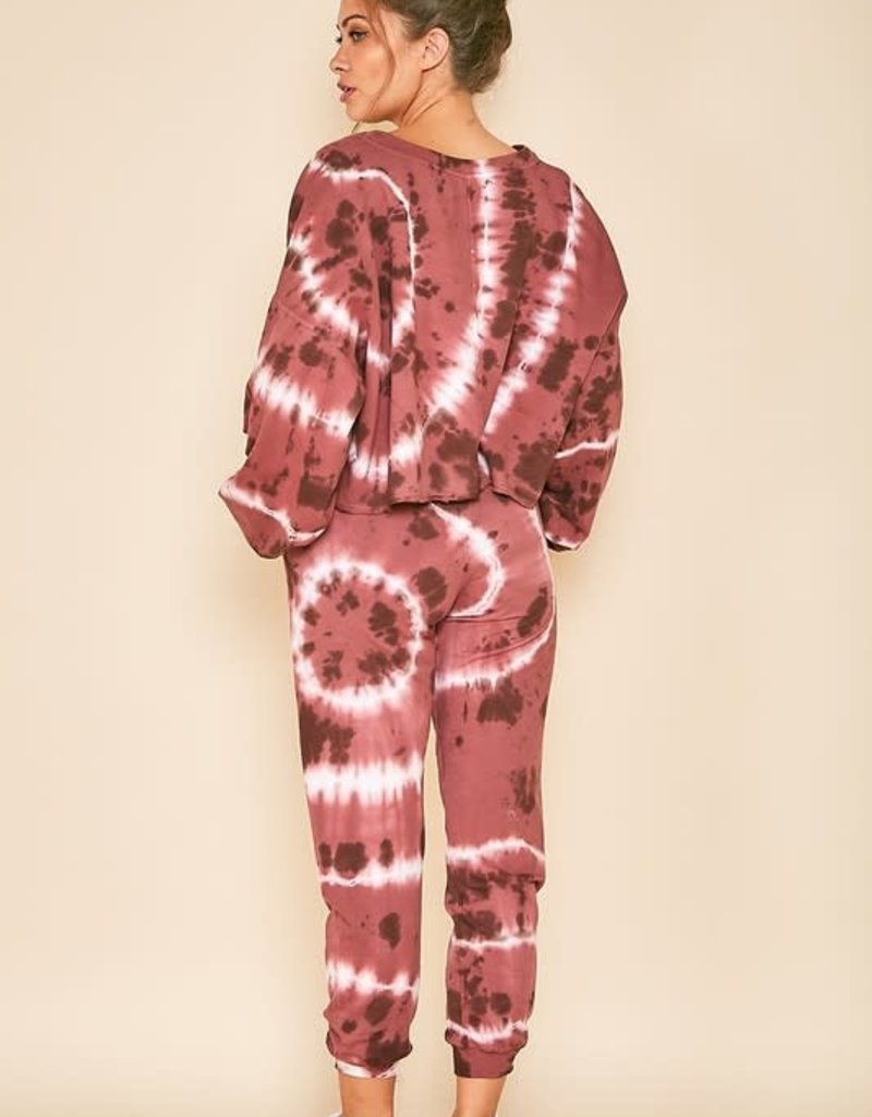 high waisted tie dye jogger final sale