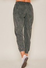 high waist mineral washed jogger