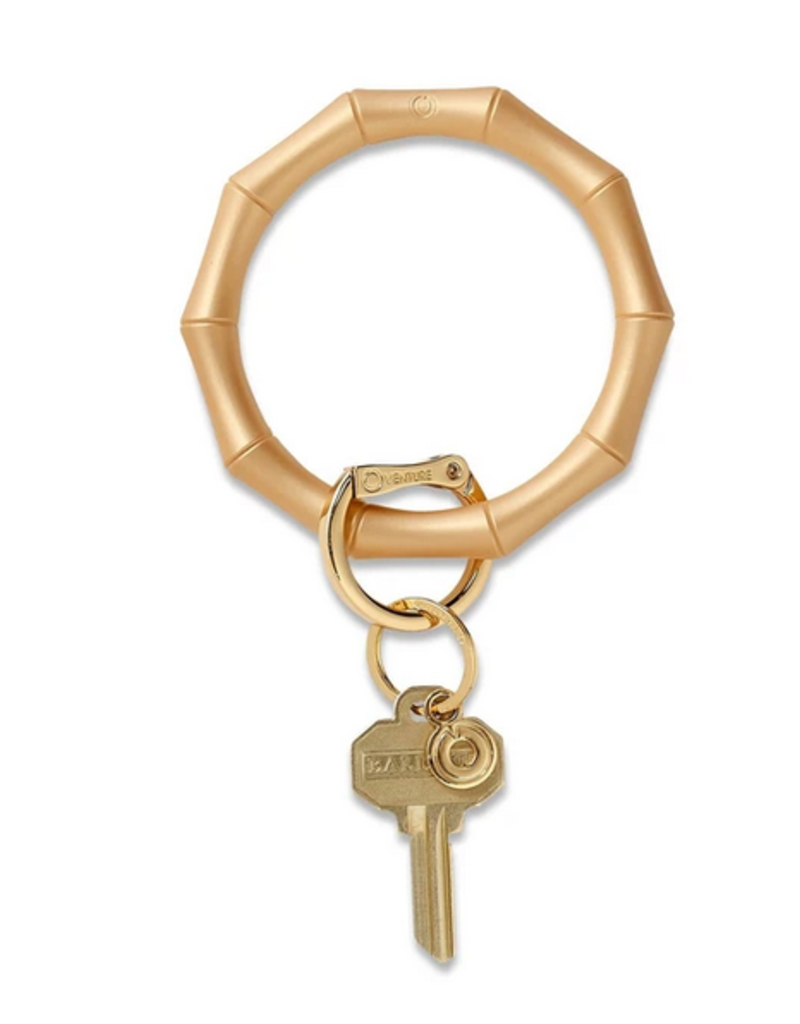 oventure silicone big O key ring - bamboo