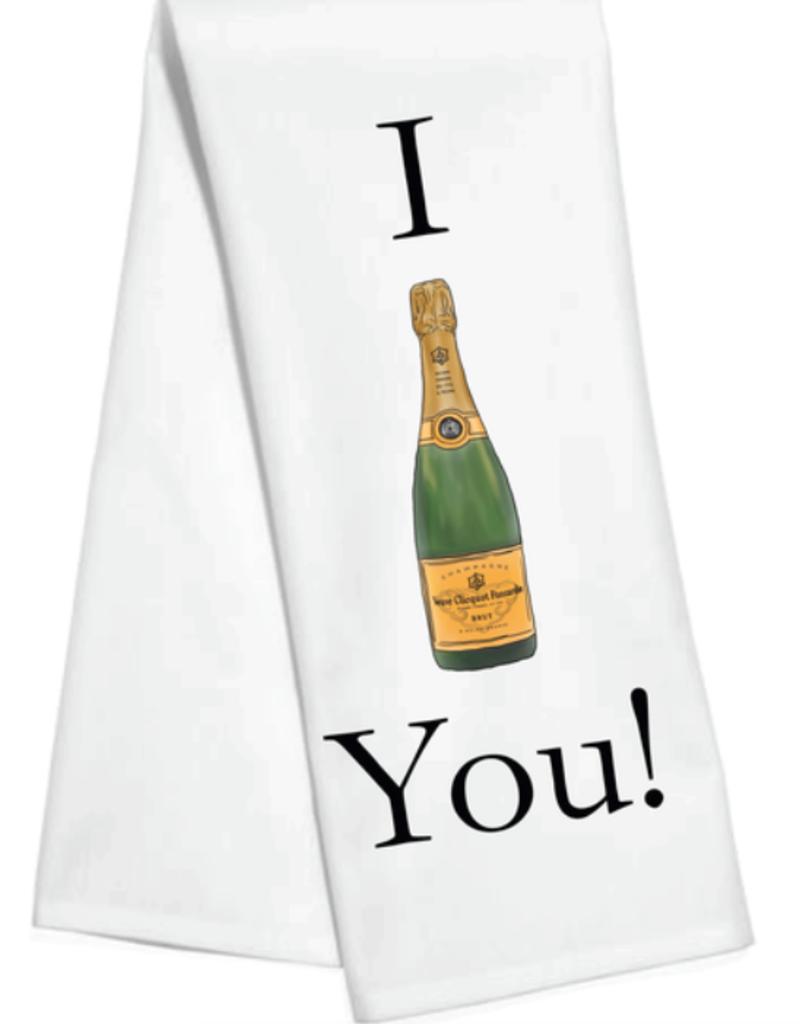 i v you kitchen towel