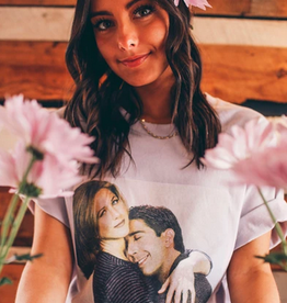 friday + saturday ross and rachel hug tee