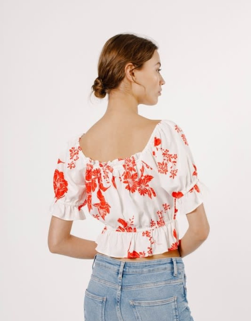 mandy floral puff sleeve top