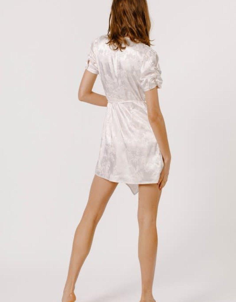 tammy shirred wrap dress