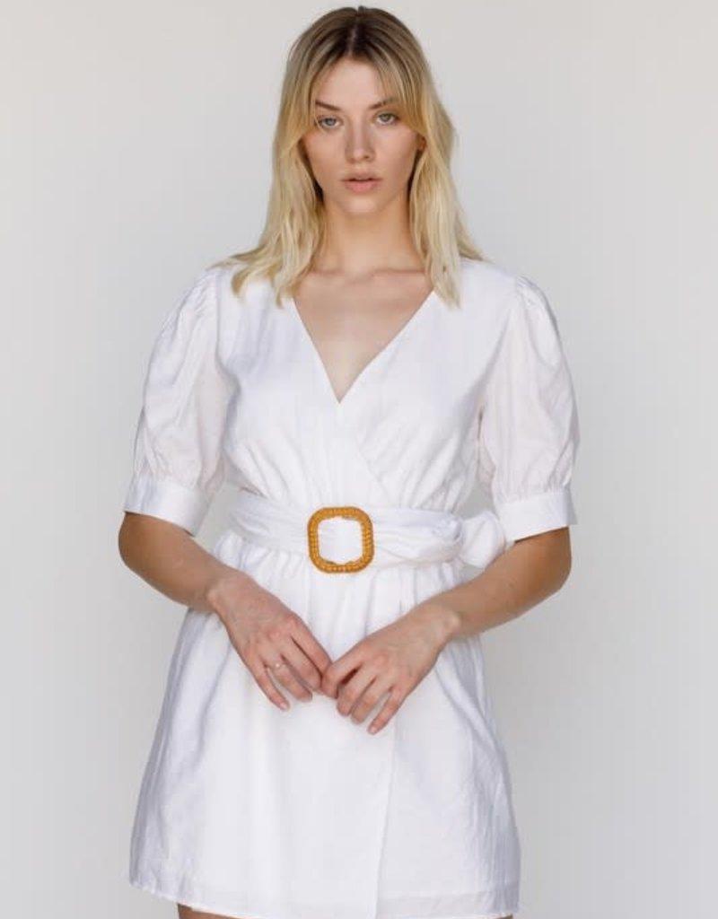lisa belted wrap dress