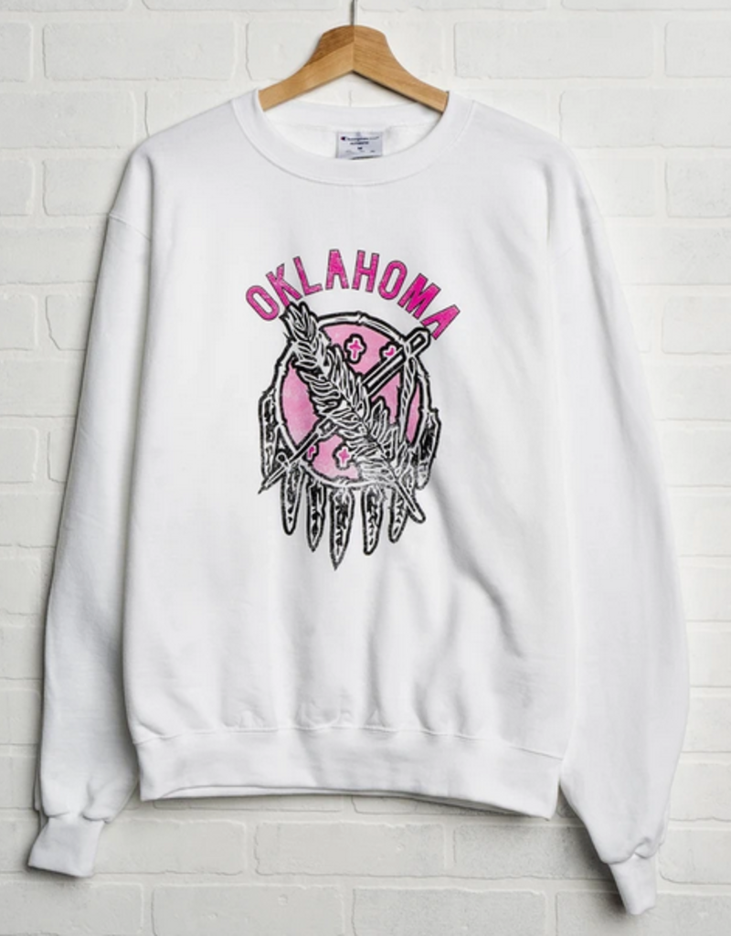 LivyLu oklahoma sticker shield champion sweatshirt