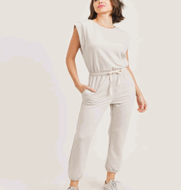 french terry muscle tank jumpsuit