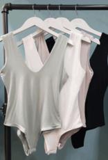 double v neck bodysuit LC