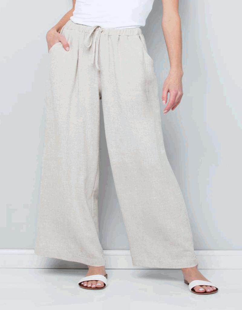 linen wide leg pant