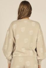 skull print burnout crew