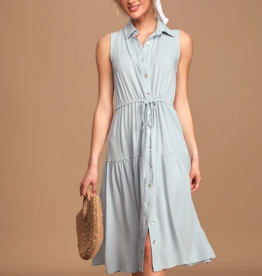 thetis button front midi dress