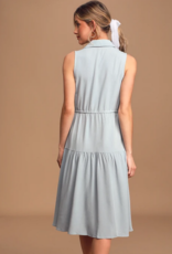 thetis button front midi dress