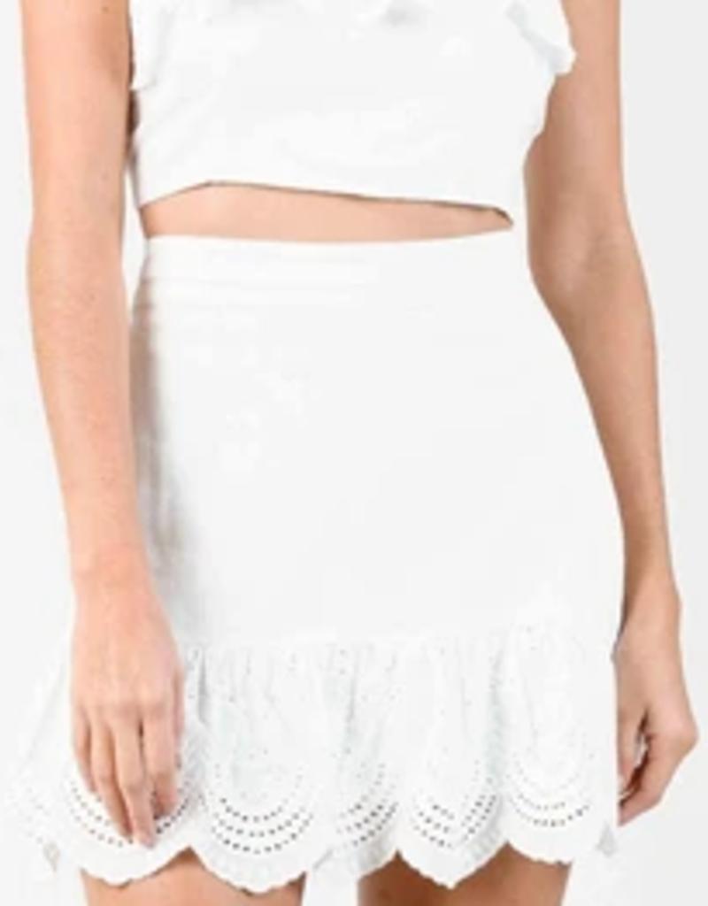 nyx scallop ruffle mini skirt