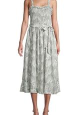 arya ruffle smocked dress
