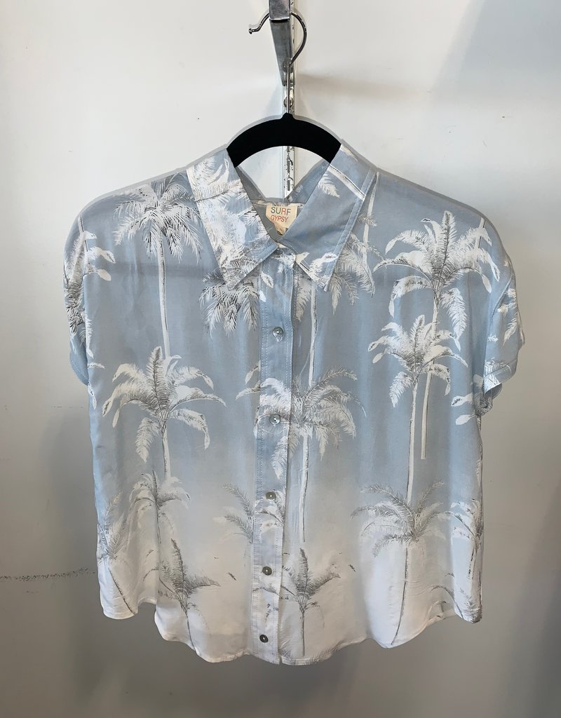 bleached palm button up top final sale