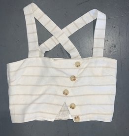 emery button cropped cami
