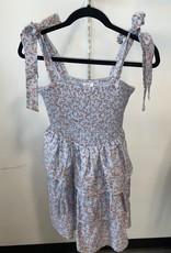 ibiza smocked floral sleeveless dress