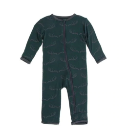 kickee pants pine deer rack coverall with zipper